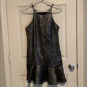 Adelyn Rae Metallic Snakeskin Dress